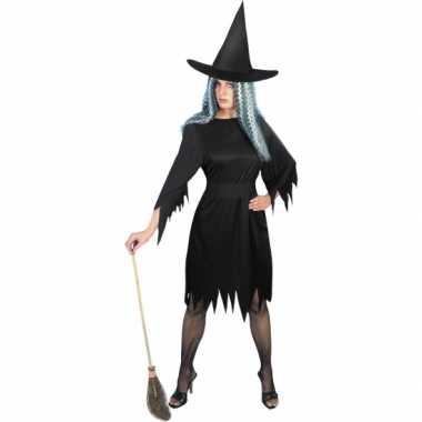 Carnaval  Heksenjurkje dames zwart kostuum