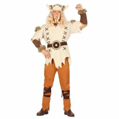 Carnaval heren vikings kostuum bruin