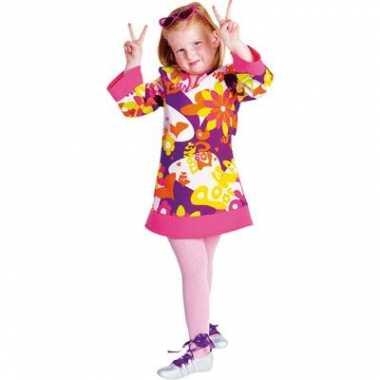 Carnaval hippie jurk meiden kostuum