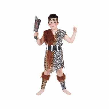 Carnaval  Holbewoner verkleed kostuum kinderen