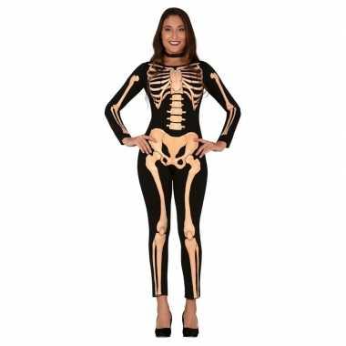 Carnaval horror skelet verkleed kostuum/kostuum dames