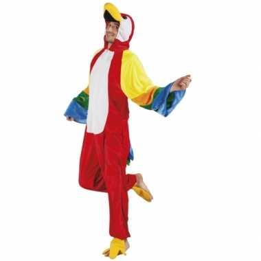 Carnaval huiskostuum papegaai heren