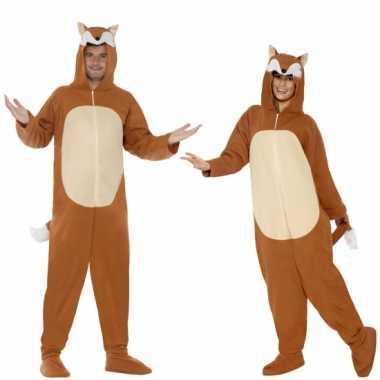 Carnaval huiskostuum vos volwassenen
