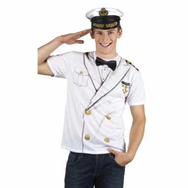 Carnaval kapiteins kostuum herenshirt
