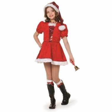Carnaval  Kerst meisjes kostuum deluxe