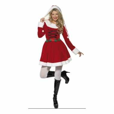 Carnaval  Kerstjurk lange mouwen dames kostuum