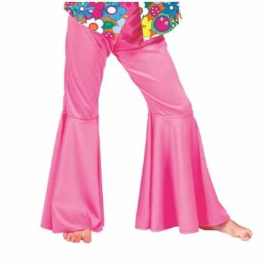 Carnaval  Kinder broek roze sixties kostuum