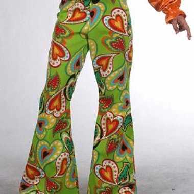 Carnaval kinder broeken hippie hartjes kostuum