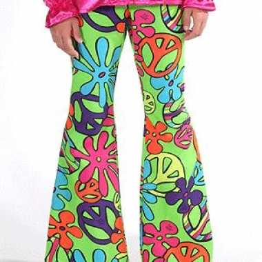 Carnaval kinder broeken hippie peace kostuum