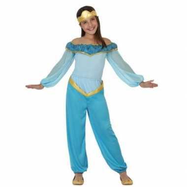 Carnaval  Kinderkostuum blauwe arabische prinses