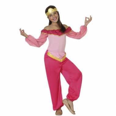 Carnaval  Kinderkostuum roze arabische prinses