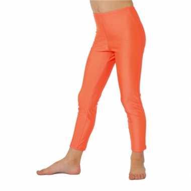 Carnaval  Knal oranje kinder legging kostuum