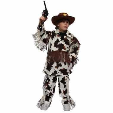 Carnaval kostuum cowboy pak koeienprint kids