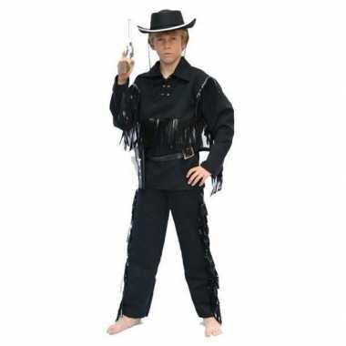 Carnaval kostuum cowboy pak zwart kids
