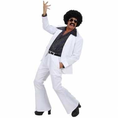 Carnaval  Kostuum discostijl wit