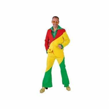 Carnaval  Kostuum rood/geel/groen volwassenen
