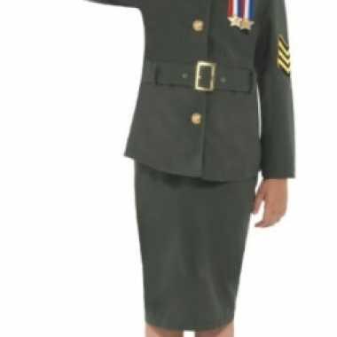 Carnaval  Leger uniform meisjes kostuum