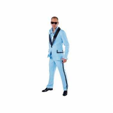 Lichtblauw maffia kostuum heren