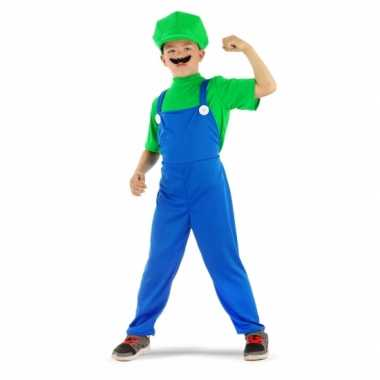 Carnaval  Loodgieter Luigi verkleed kostuum groen jongens