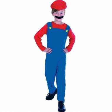 Carnaval loodgieter mario verkleed kostuum kinderen