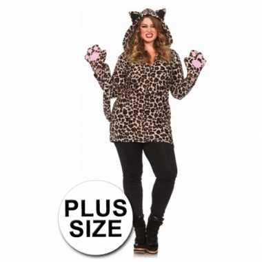 Carnaval  Luipaard jurk luipaardprint grote maten kostuum