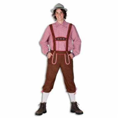 Carnaval  Luxe bruine tiroler pak heren kostuum