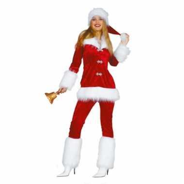 Carnaval  Luxe kerst pak dames kostuum