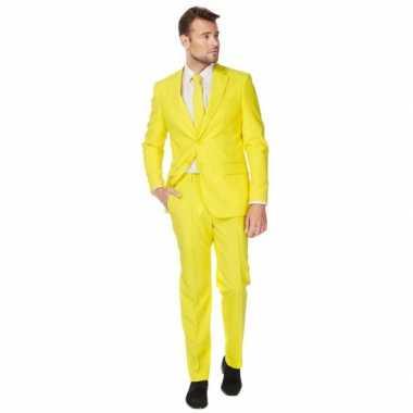Carnaval  Luxe kostuum heren geel