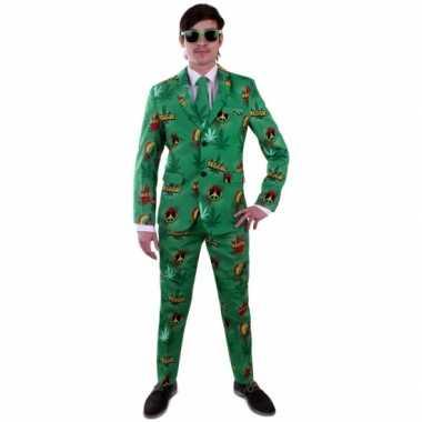 Carnaval luxe kostuum heren rasta