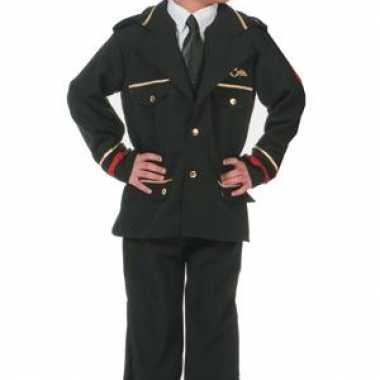 Carnaval luxe piloten jas kinderen kostuum