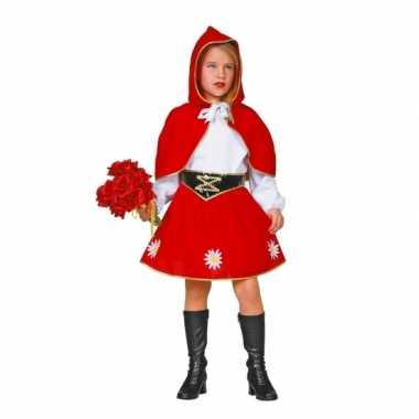 Meisjes Roodkapje carnavalskostuum