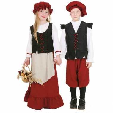 Carnaval  Middeleeuws boerin kostuum meisjes