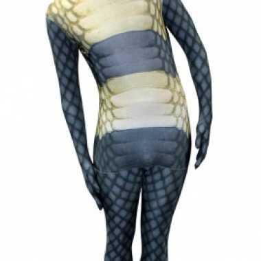 Carnaval  Morphsuit cobra slangen print kostuum