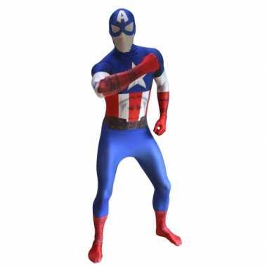 Morphsuit kostuum captain america