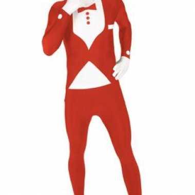 Carnaval  Morphsuit kostuum rood kostuum