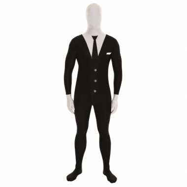 Carnaval  Morphsuit kostuum slenderman