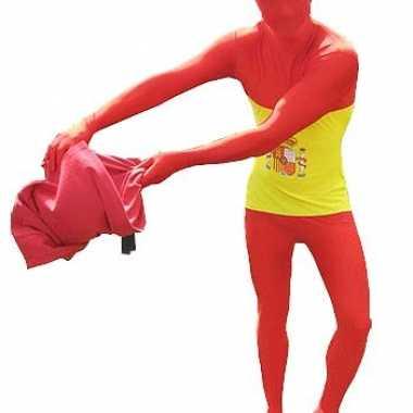 Carnaval  Morphsuit kostuum Spaanse vlag