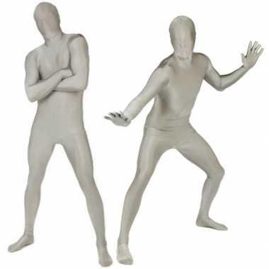 Carnaval  Morphsuit kostuum zilver