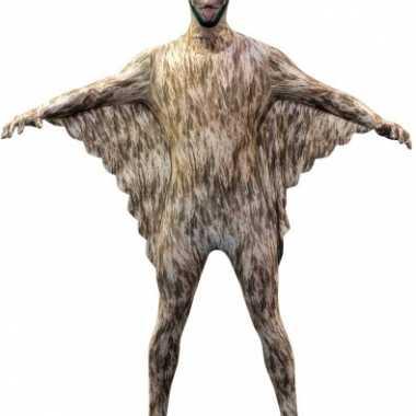 Carnaval  Morphsuit vleermuizen print kostuum