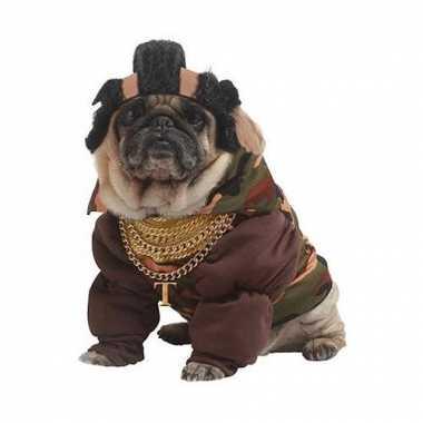 Carnaval mr. t kostuum honden