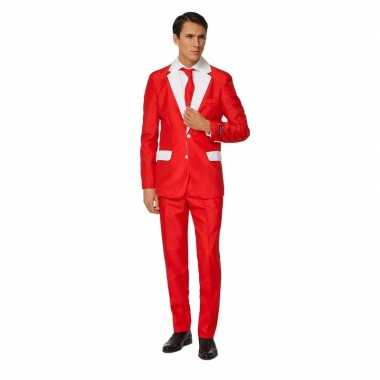 Carnaval net heren kostuum kerstman kostuum print