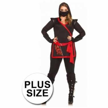 Carnaval  Ninja dames kostuum grote maat