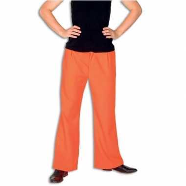 Carnaval  Oranje broek volwassenen kostuum