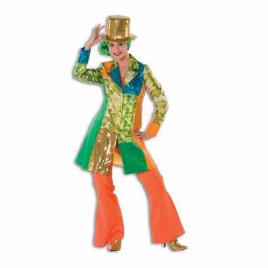 Carnaval  Oranje seventies broek dames kostuum