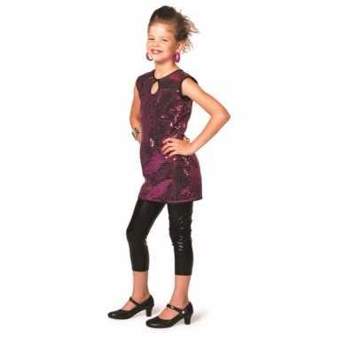 Carnaval  Paarse glitter jurkjes meisjes kostuum