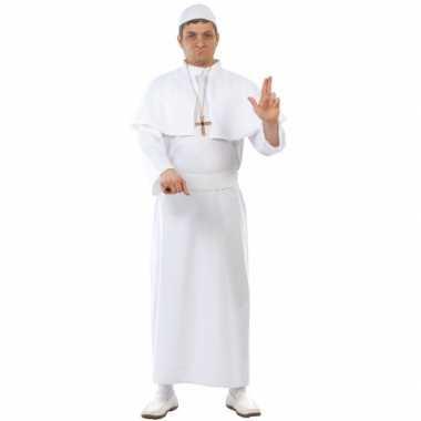 Carnaval  Paus kostuum volwassenen wit
