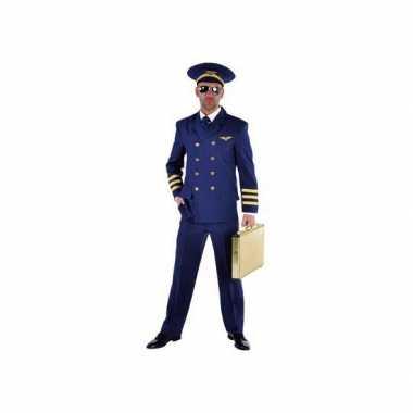 Carnaval  Piloten kostuum blauw heren