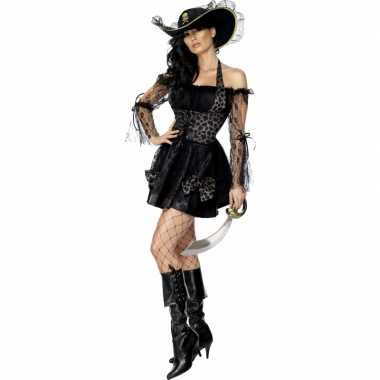 Carnaval  Piraten kostuumje dames zwart