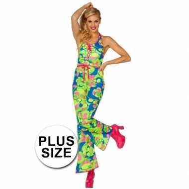 Carnaval  Plus size sixties/seventies catsuit kostuum
