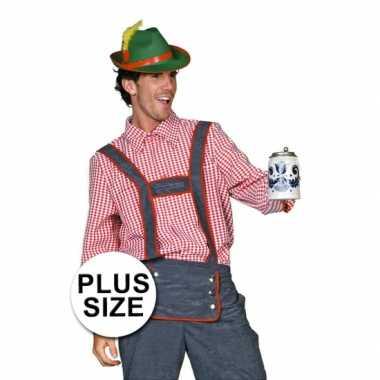 Carnaval  Plus size Tiroler blouse mannen kostuum